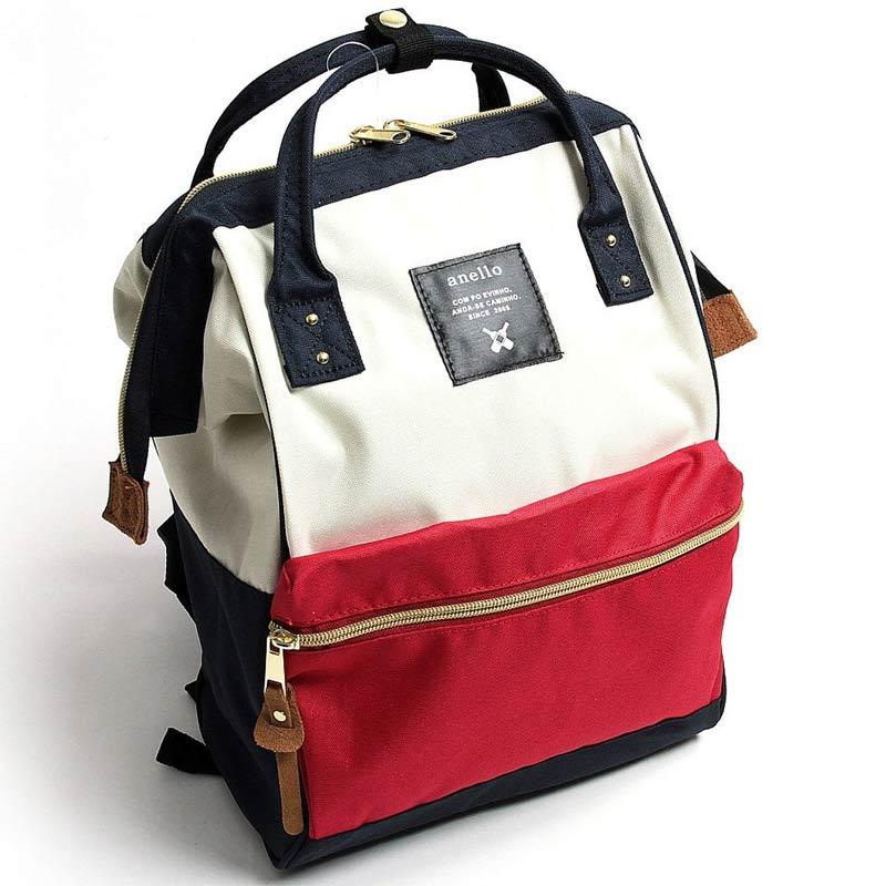 anello 紅白色 日本帶回正版 帆布水洗 後背包 A4也放的下!