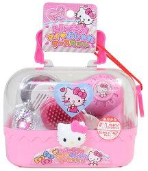 X射線【C013467】Hello Kitty 化妝玩具附手提盒,扮家家酒/髮飾/家家酒/飾品配件/玩具/婦幼