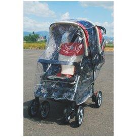 【淘氣寶寶】欣康SYNCON-前後型雙人雨罩 (適用多款推車雨罩) 用於雙人推車前/後型105cm~115cm