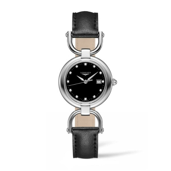 LONGINES L61314570騎士系列黑鑽時尚腕錶/黑面30mm