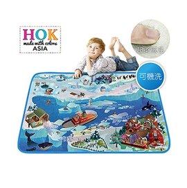 【淘氣寶寶】《比利時HOK》極地大冒險可水洗柔軟遊戲墊