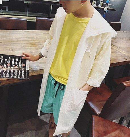 【JP.美日韓】 簡單 長版 防曬衣 亞麻 質感外套 不黏身體 高品質 款 外套 春夏