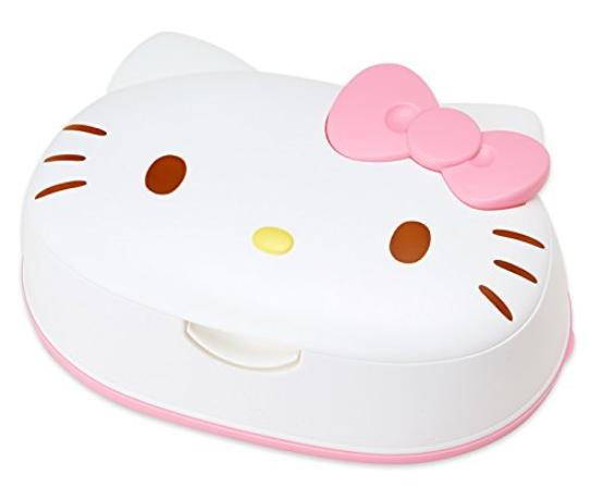 【Hello Kitty 凱蒂貓】可愛造型濕紙巾盒 (內含80枚濕紙巾)‧日本製
