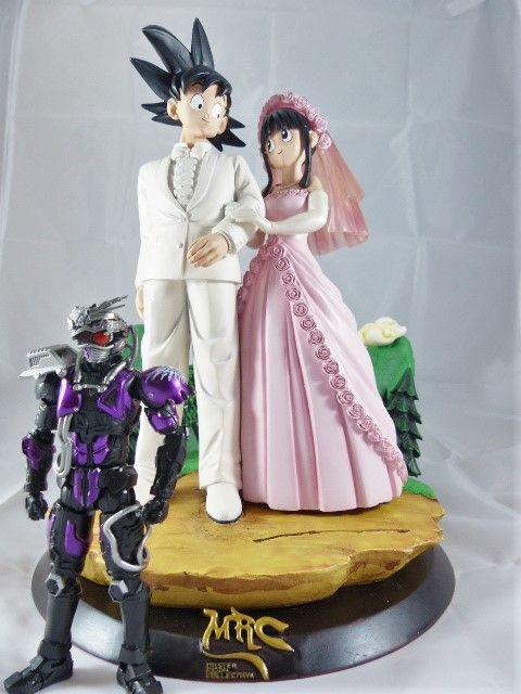 【秋葉園 AKIBA】七龍珠 孫悟空和琪琪的結婚典禮 公仔 GK模型 塗装完成品 限定品 5