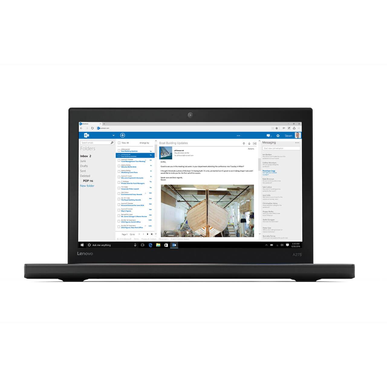 """Lenovo ThinkPad A275, 12.5"""", AMD A12-9800B -9800B, 8GB DDR4 RAM, 256GB SSD, Win 10 Pro 64 0"""