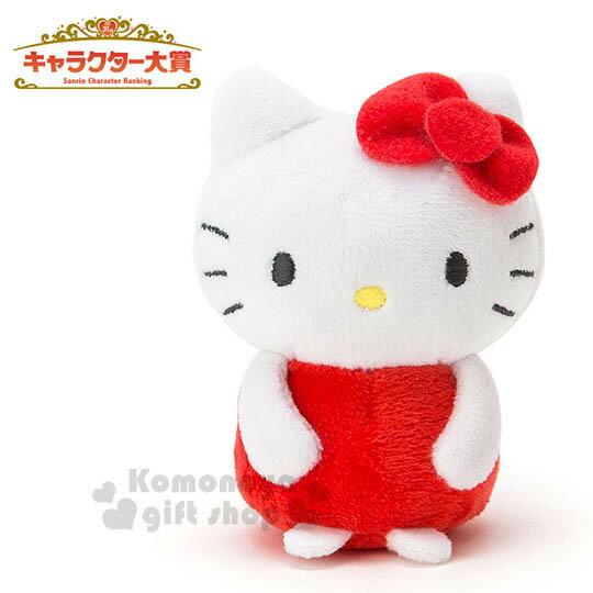 〔小禮堂〕Hello Kitty 造型絨毛玩偶娃娃《迷你.紅》2016 Sanrio人物大賞系列