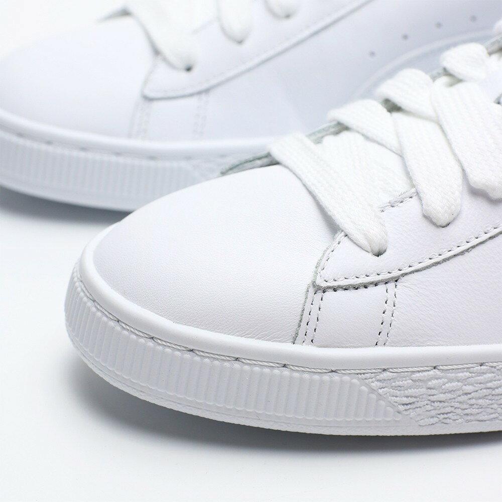 【滿$2500領券現折$350】PUMA BASKET CLASSIC LFS 皮革 全白 白金 休閒鞋 男 (布魯克林) 35436717