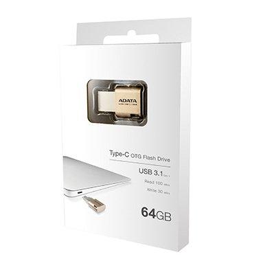 【新風尚潮流】威剛UC350 64GB Macbook type-C OTG手機電腦兩用隨身碟 AUC350-64G