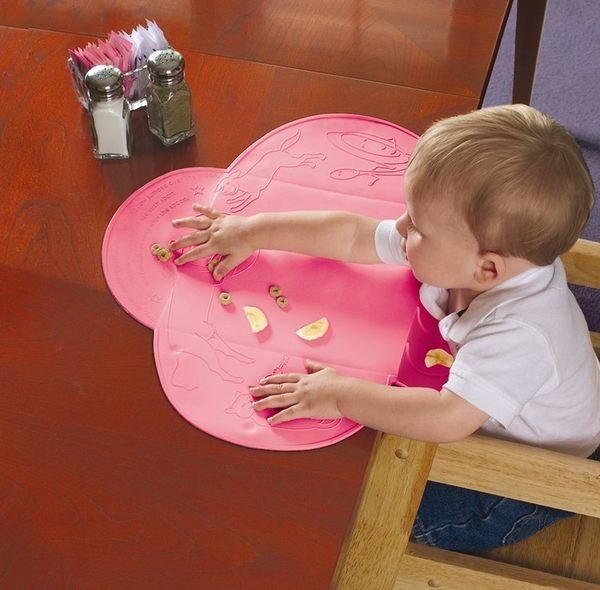 美國Summer Infant 第一代可攜式防水餐墊 Tiny Diner (桃色)