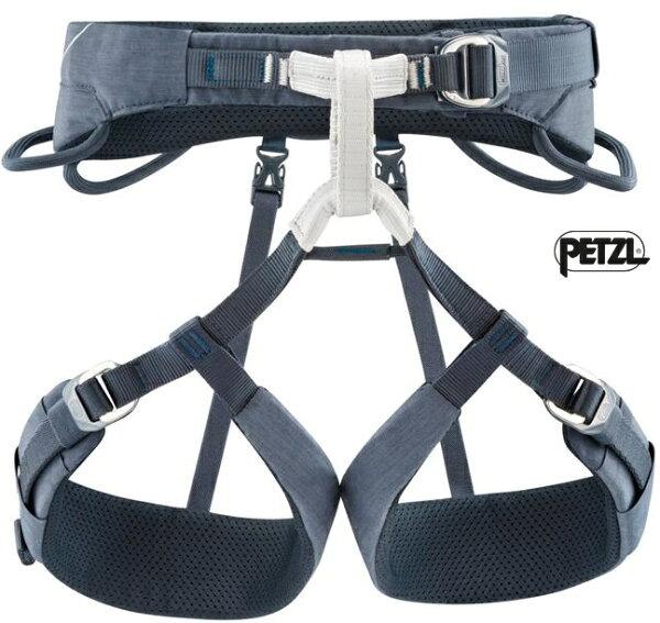 PetzlADJAMA攀岩安全座帶運動攀登吊帶上攀坐帶腿環可調男款C022AA