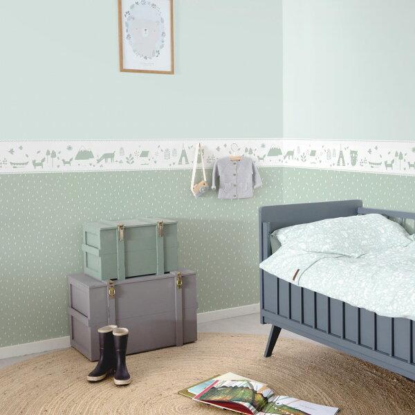 兒童房綠色壁紙荷蘭LittleDutchSprinklesmint8671
