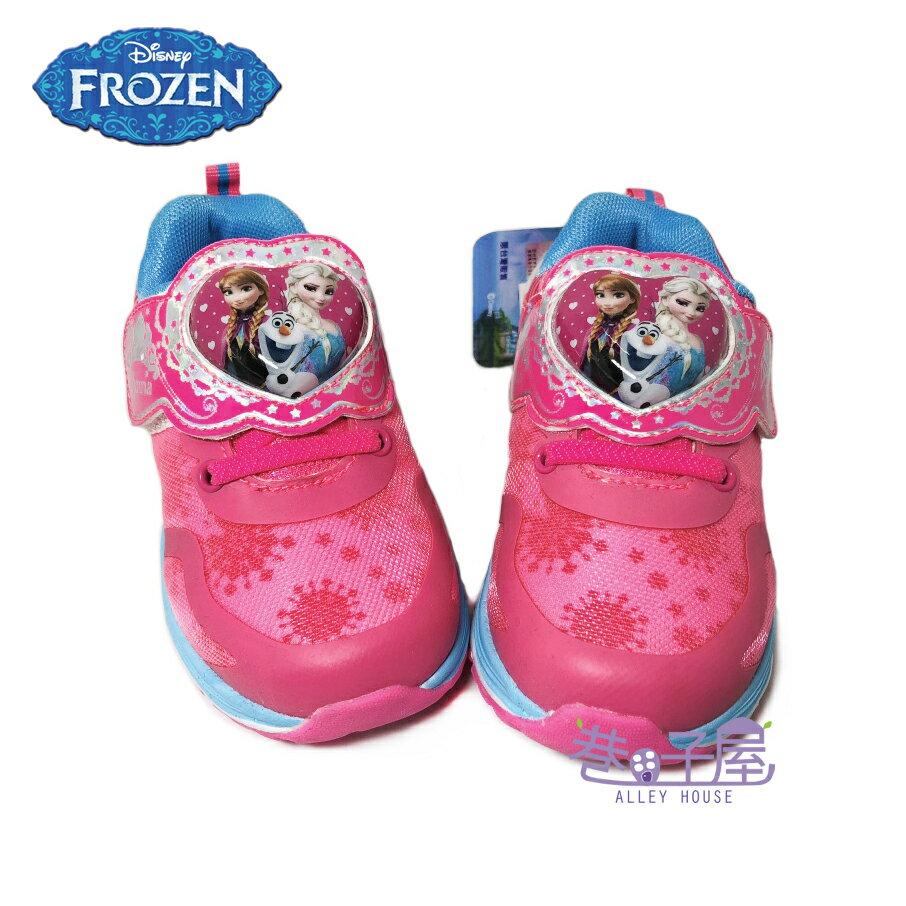 【巷子屋】DISNEY迪士尼 冰雪奇緣女童雪花造型電燈輕量運動休閒鞋 [64333] 粉 超值價$198