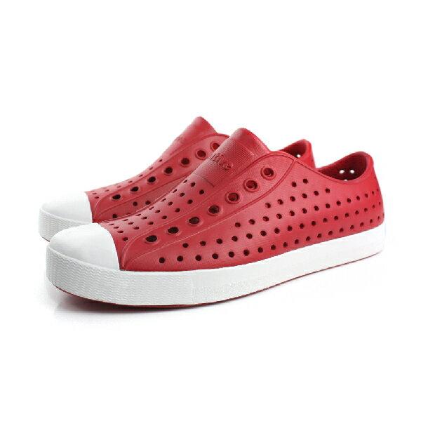 native JEFFERSON 洞洞鞋 男女鞋 紅色 no284