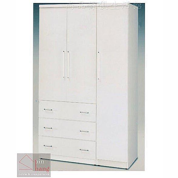 【尚品傢俱】GF-M01 詩雅 白色4x7尺衣櫃~另有胡桃色衣櫃/衣櫥/儲物櫃/房間收納櫃