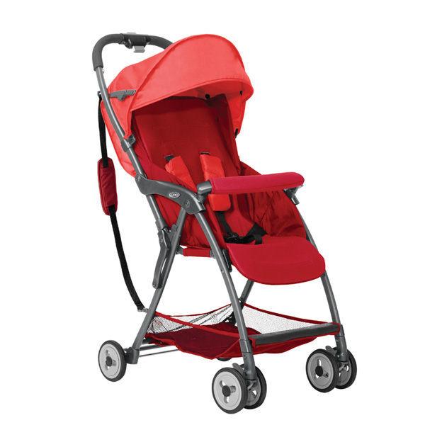 Graco 超輕量型單向嬰幼兒手推車 羽量級 FEATHERWEIGHT-艷陽紅【悅兒園婦幼生活館】
