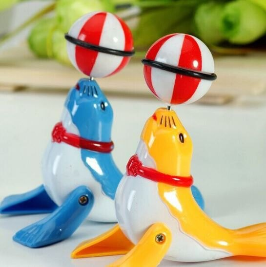 【省錢博士】發條小海豚玩具 / 上鍊海豚頂球兒童玩具