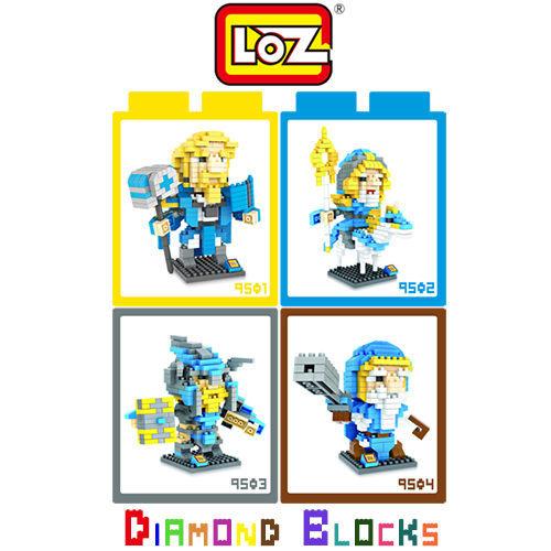 【微笑商城】LOZ 迷你鑽石小積木 刀塔傳奇 魔獸 LOL 系列 樂高式 玩具 益智玩具