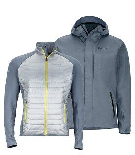├登山樂┤美國MarmotWayfarer男款GORE-TEX防水外套風雨衣兩件式保暖化纖鐵灰#30410-1515
