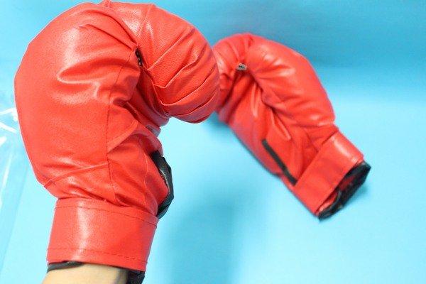 拳擊手套 少年拳擊手套 練習用拳擊手套 約8磅(水藍色.紅色)/一袋一雙入{促299}