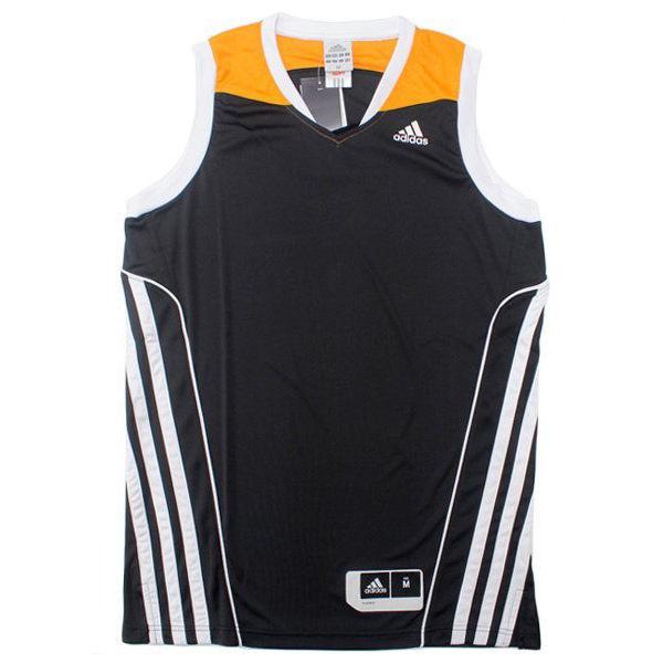 《精選服飾↘市價65折》Adidas ALL STAR TEAM SPEED 男裝 上衣 球衣 背心 籃球 黑 白 黃 【運動世界】 G78187