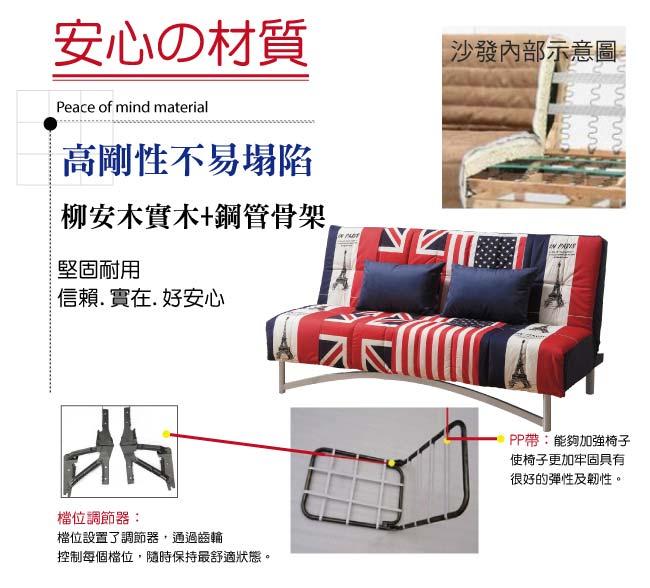 【綠家居】安迪比 時尚棉滌布沙發/沙發床(二色可選+展開式機能設計)