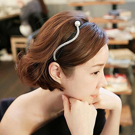 雙兒網:髮箍韓版珍珠S型髮箍【O3192】☆雙兒網☆