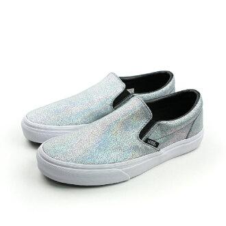 VANS Classic Slip-On 懶人鞋 銀 女款 no424