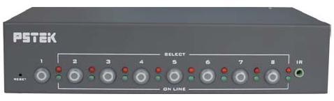 <br/><br/>  AviewS-8埠 螢幕切換器/PSTEK VS-18<br/><br/>
