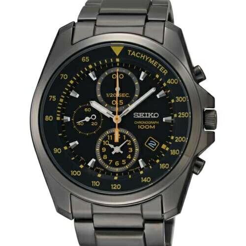 SEIKO 勁速玩家三眼計時腕錶/黑鋼/SNDD65P1(7T92-0NK0D)