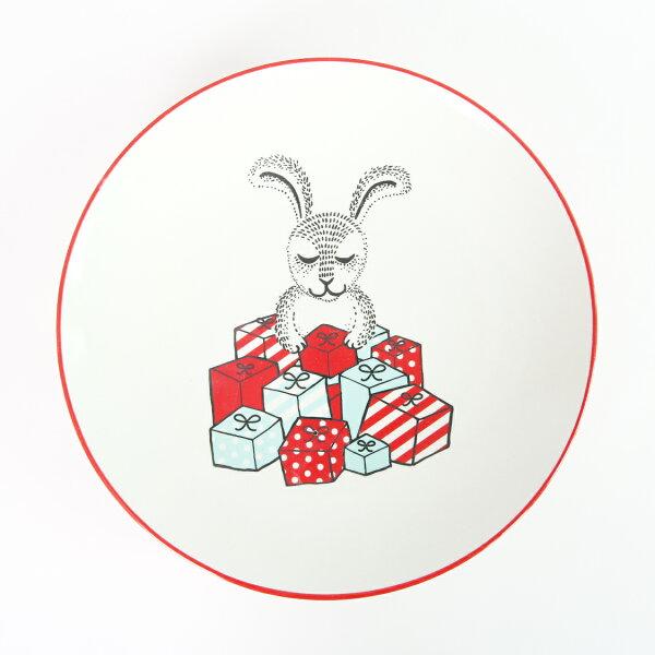 北歐丹麥獻禮兔兔圓盤