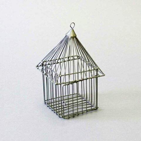 鐵製尖屋小置物籃