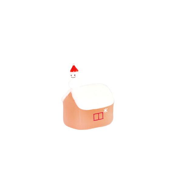 喜鵲先生1號店:玻璃擺飾(粉色小屋雪人)