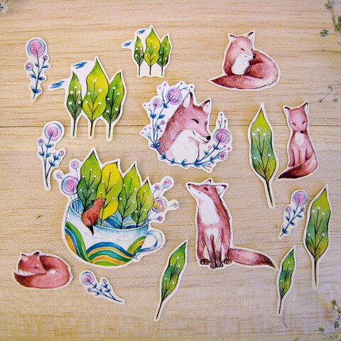 《自然系-森林與狐狸》貼紙組