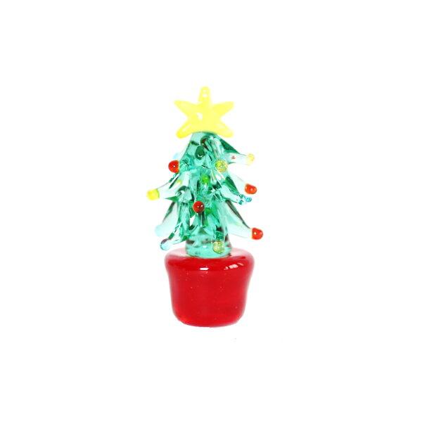 喜鵲先生1號店:玻璃擺飾(藍綠聖誕樹)