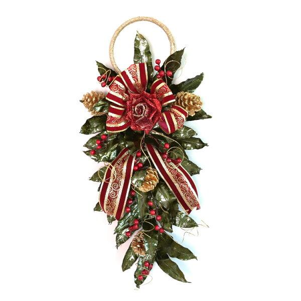 喜鵲先生1號店:壁掛綠葉聖誕裝飾