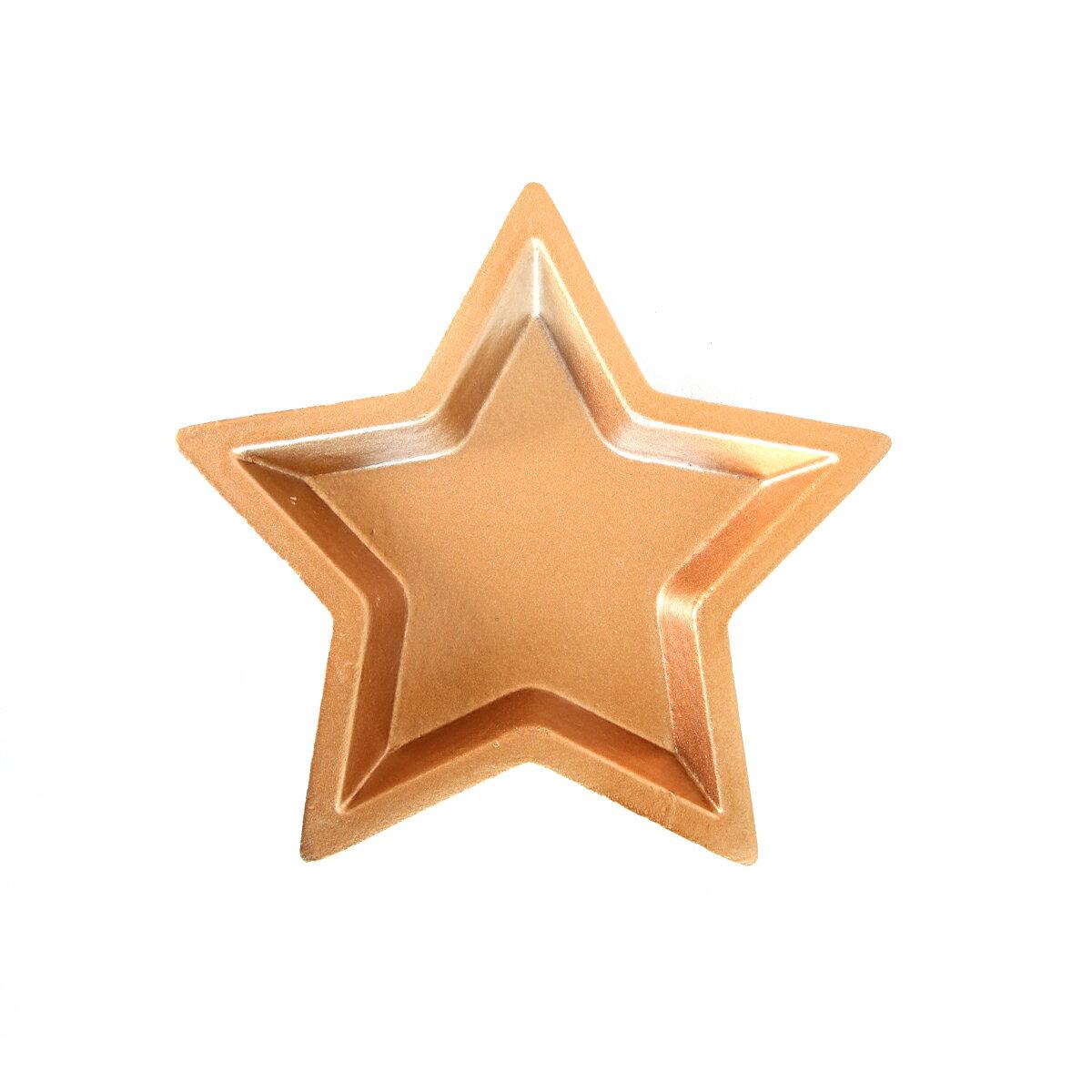 星型置物盤S  紅銅金