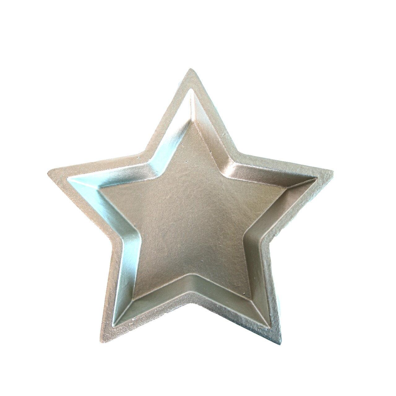 星型置物盤M  星光銀