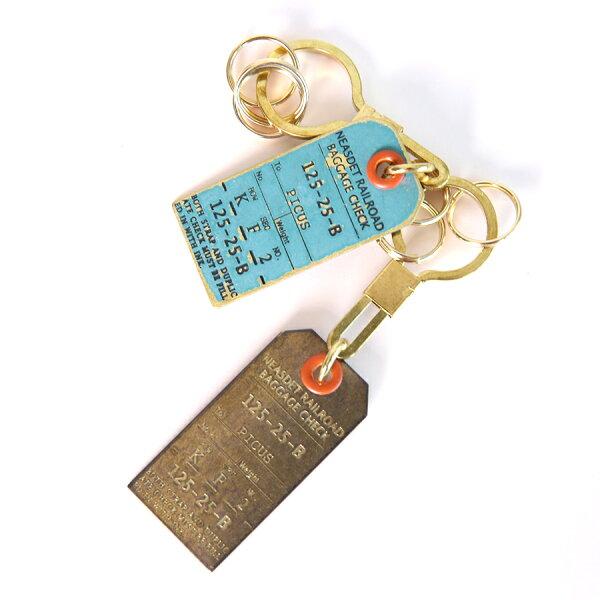 喜鵲先生1號店:復古票札夾型鑰匙圈