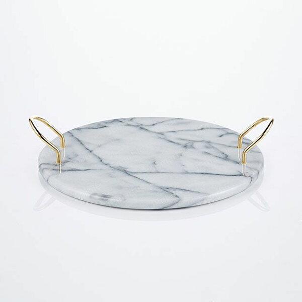 喜鵲先生1號店:大理石金色托盤端盤點心盤蛋糕盤
