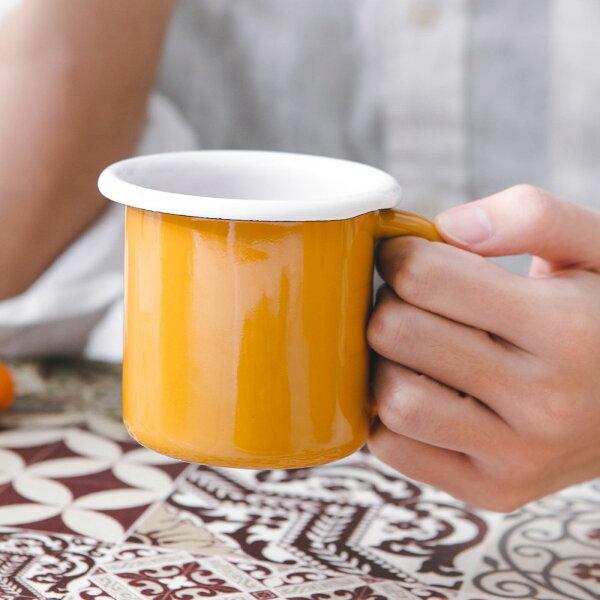 BORNN醇色經典琺瑯馬克杯芥末黃