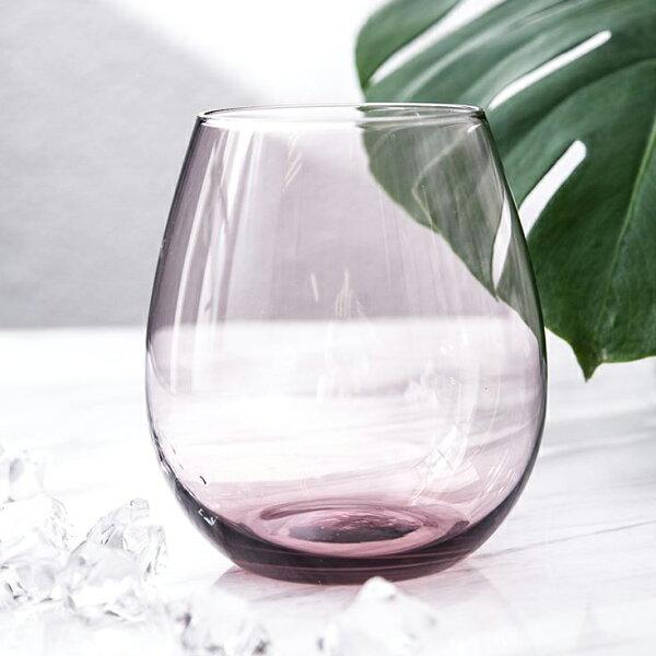 丹麥吹製玻璃水杯嫣粉