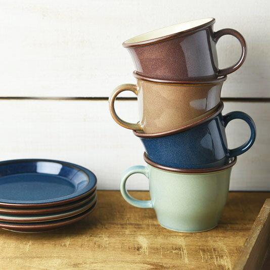 煦色咖啡杯盤組