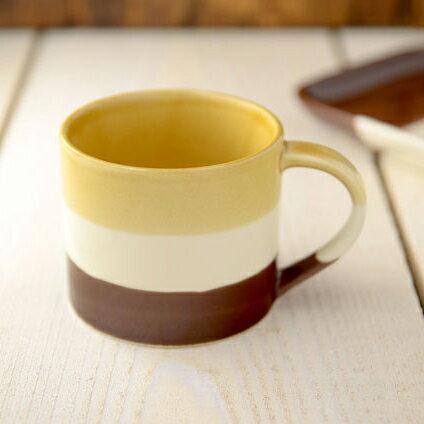 條紋茶聚馬克杯(可可棕)