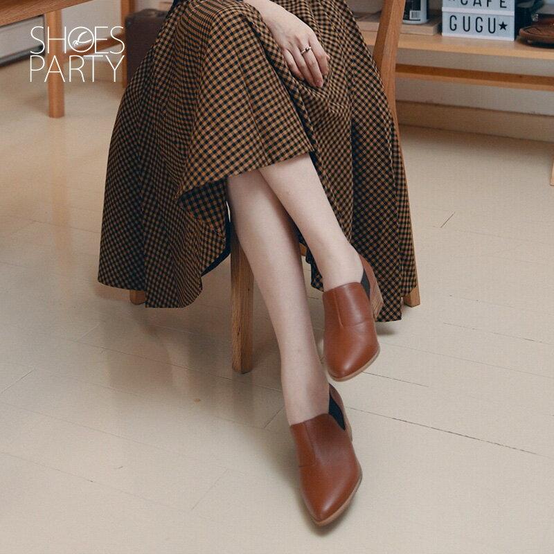 【B2-18209L】尖頭側鬆緊鞋_Shoes Party 0