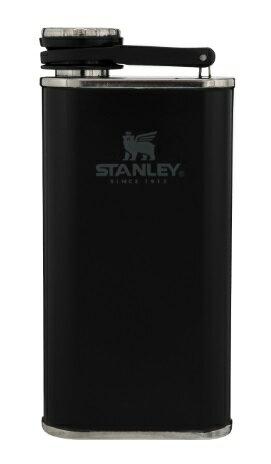 【【蘋果戶外】】Stanley 10-00837 黑 經典系列 寬口酒壺 8oz 0.23L 可攜式隨身不鏽鋼水壺