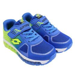 LOTTO 男童 避震跑鞋  (藍/綠) LT6AKR3756【 胖媛的店 】