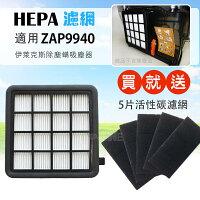 Electrolux伊萊克斯商品推薦HEPA濾心(一片裝) 適用伊萊克斯ZAP9940吸塵器 送5片活性碳濾網