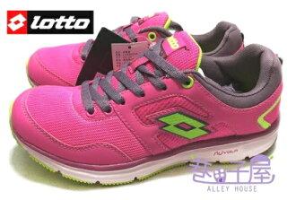 【巷子屋】義大利第一品牌-LOTTO樂得 女款五大機能透氣多功能運動慢跑鞋 [2193] 桃紅 超值價$590