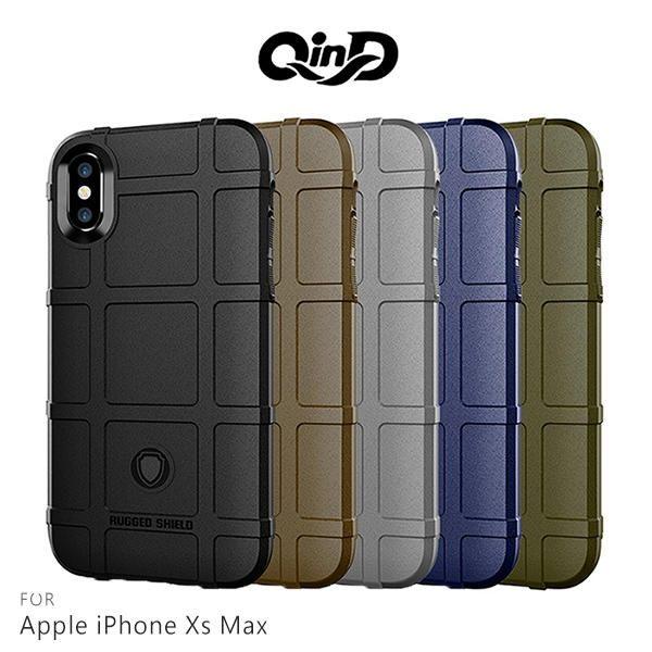 【愛瘋潮】99免運 QinD  Apple iPhoneXs Max  戰術護盾保護套 邊緣全包 減震抗摔