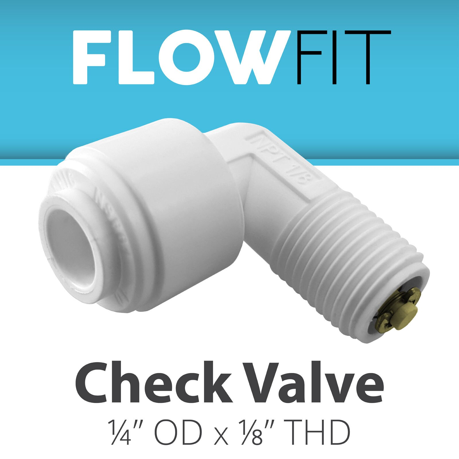 perfk 1//4 water purifier plastic Quick Connect Straight Check Valve with Fast Access Water valve